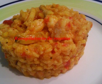 Arroz de marisco con ajillo en thermomix