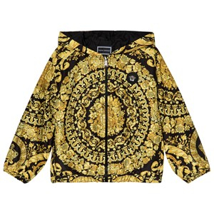 Young Versace Baroque Print Windbreaker Jacka Svart/Guld M (12 years)