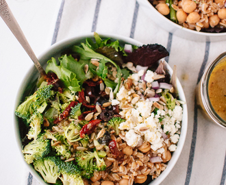 Feed South Africa + Greek Salad with Broccoli and Sun-Dried Tomatoes