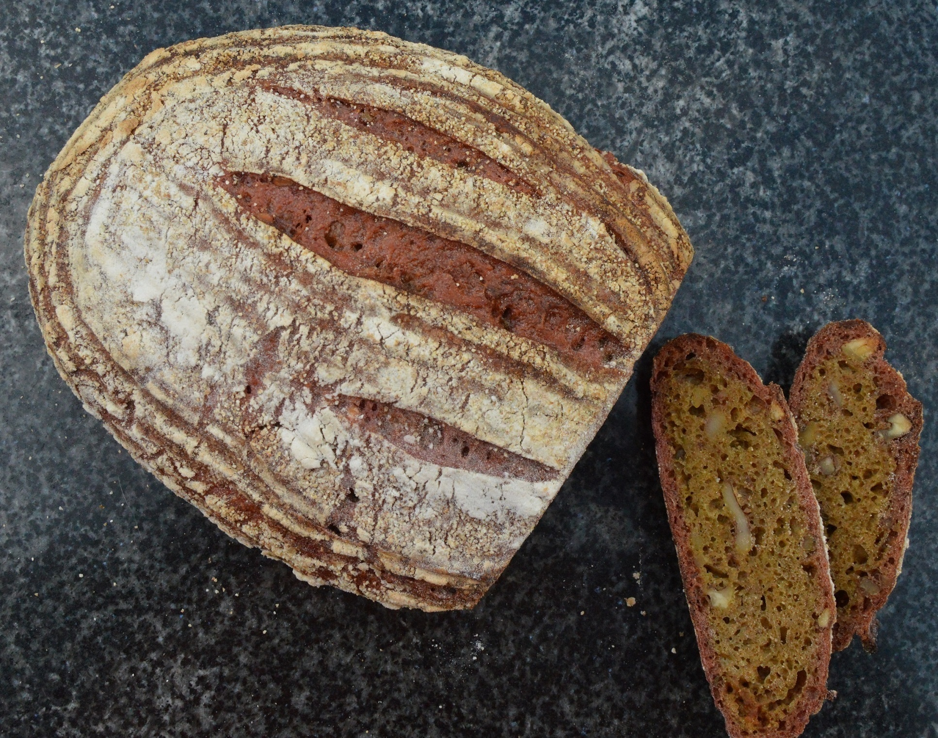 Beetroot & toasted walnut sourdough