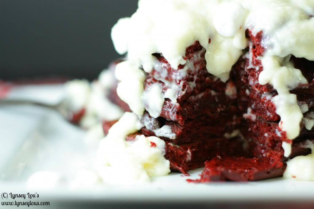 Red Velvet Cream Cheese Brownies with Marshmallow Cream Cheese Frosting