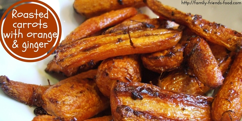 Roasted carrots with orange and ginger