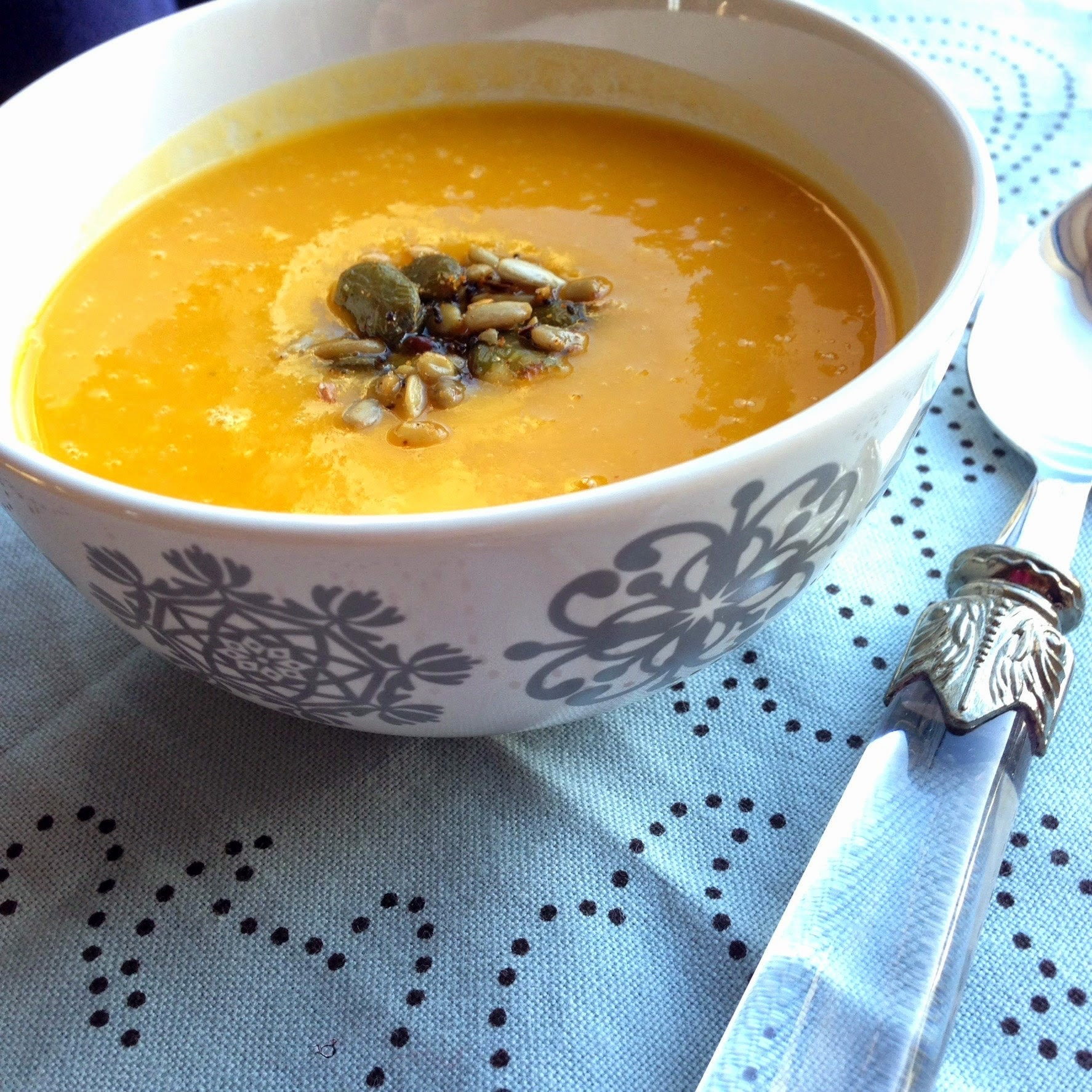 Roasted Butternut Squash & Smoked Garlic Soup
