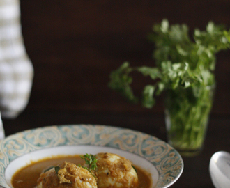 Egg Curry made from a fragrant coconut paste…..