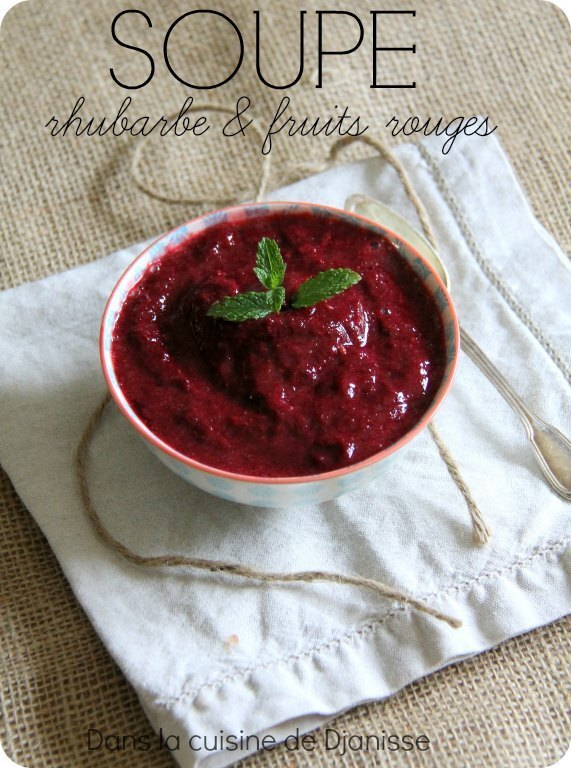 Soupe froide rhubarbe & fruits rouges {partenariat}