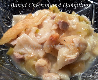Baked Chicken and Dumplings and Rhodes Cookbook Giveaway