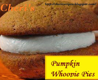 Pumpkin Whoopie Pies with Nutmeg Cream Cheese Filling