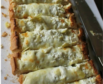 Cheesy-Choke Bread Pizza - ok I'll take one more slice of that!