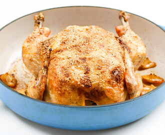 Garlic Lemon Roast Chicken