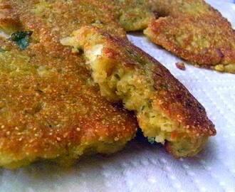 Good Luck Black-Eyed Pea Patties with Moamback Sauce - Happy New Year's Appetizer