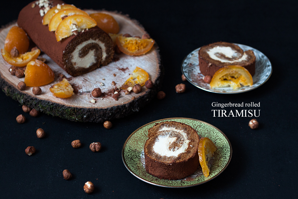 Gingerbread rolled Tiramisu