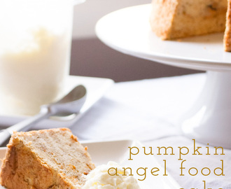 Pumpkin Angel Food Cake from Scratch
