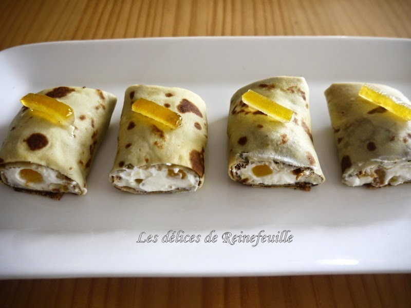 Cannellonis de crêpes à l'orange