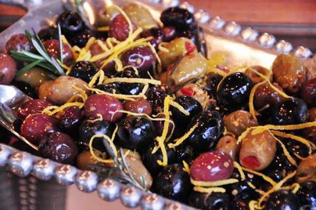 Rosemary Lemon Olives - the perfect summer appetizer for dinner al fresco . . . paired with a nice white wine