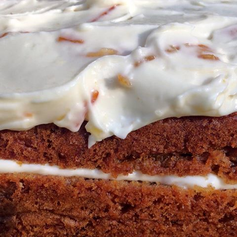 spicy carrot cake with marmalade mascarpone icing