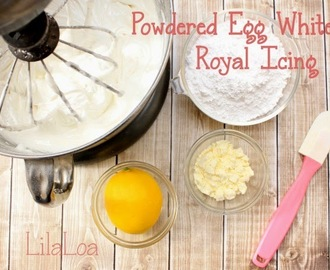 Royal Icing Recipe with Dried Egg Whites