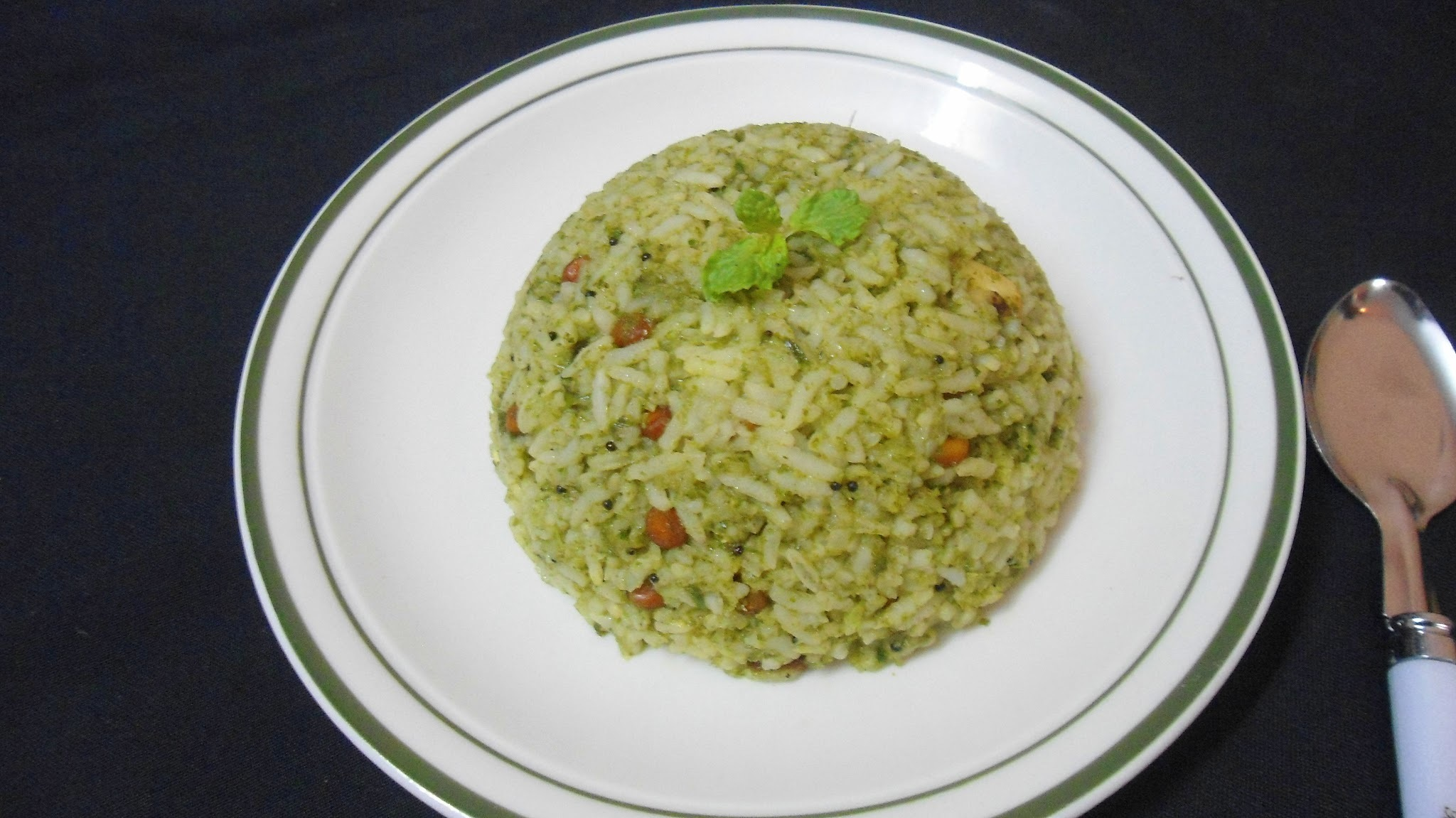 Mint Rice | Easy Lunch Box Ideas | Step by Step Pictures