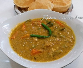 Green chilli veg curry