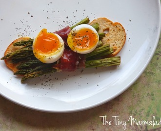 Devon Asparagus, Cured Ham and Poached Duck Egg