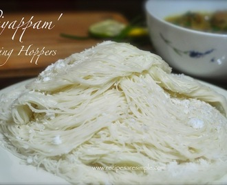 How to make Idiyappam – String Hoppers – Rice Flour Steamed Noodle