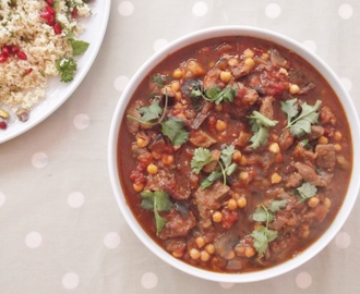 Moroccan Lamb Stew and Jewelled Couscous