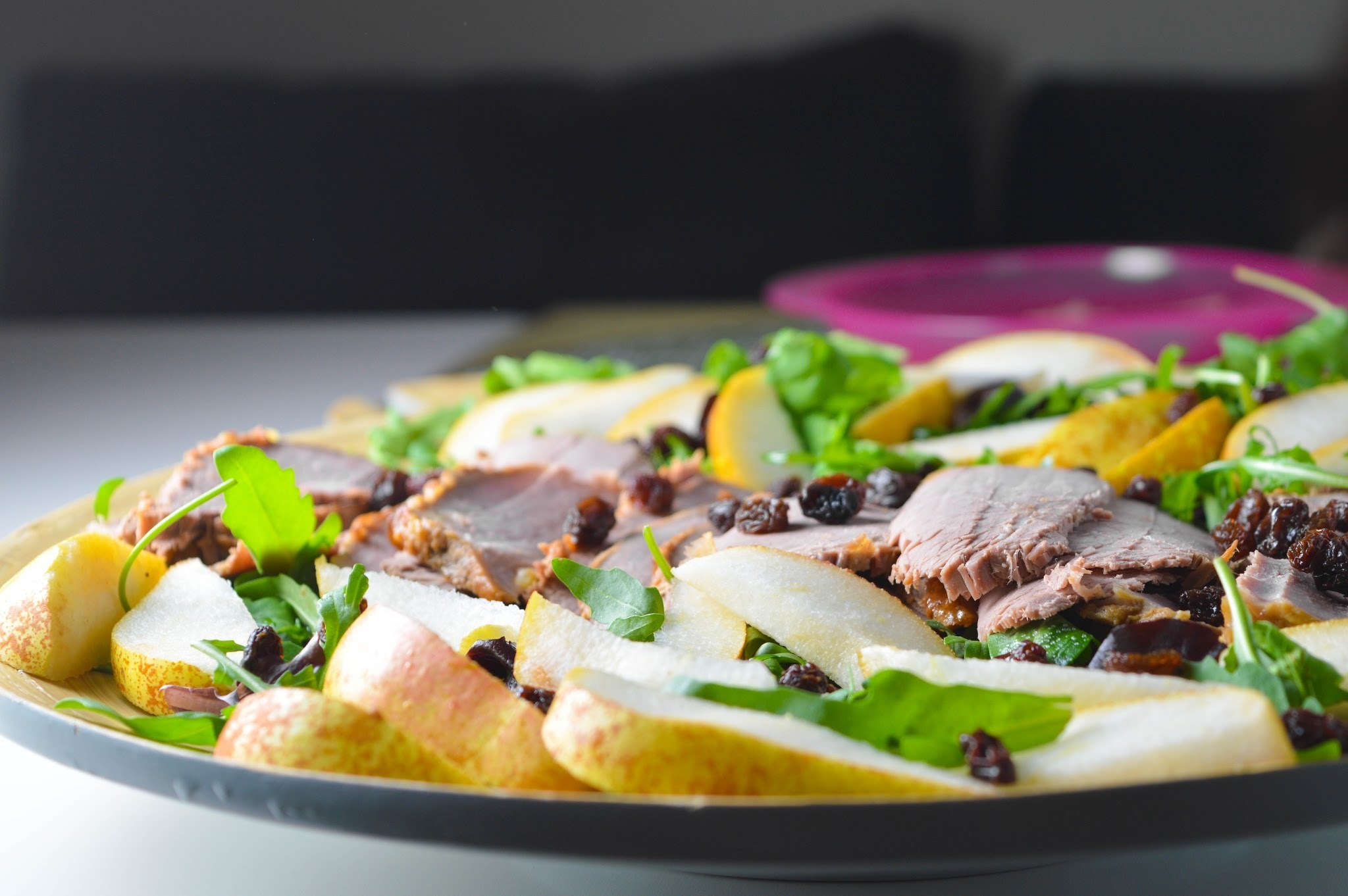 Leftover Beef & Pear Rocket Salad