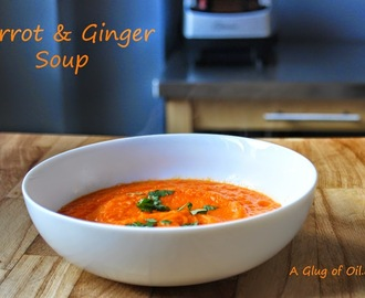 Carrot and Ginger Soup - Made using the Optimum 9200 Power Blender