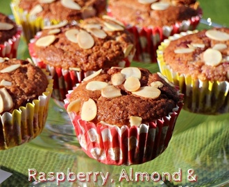 Raspberry, Almond & White Chocolate Muffins