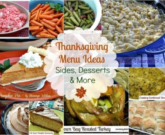 Thanksgiving Recipe Round Up {Over 35 Recipes}
