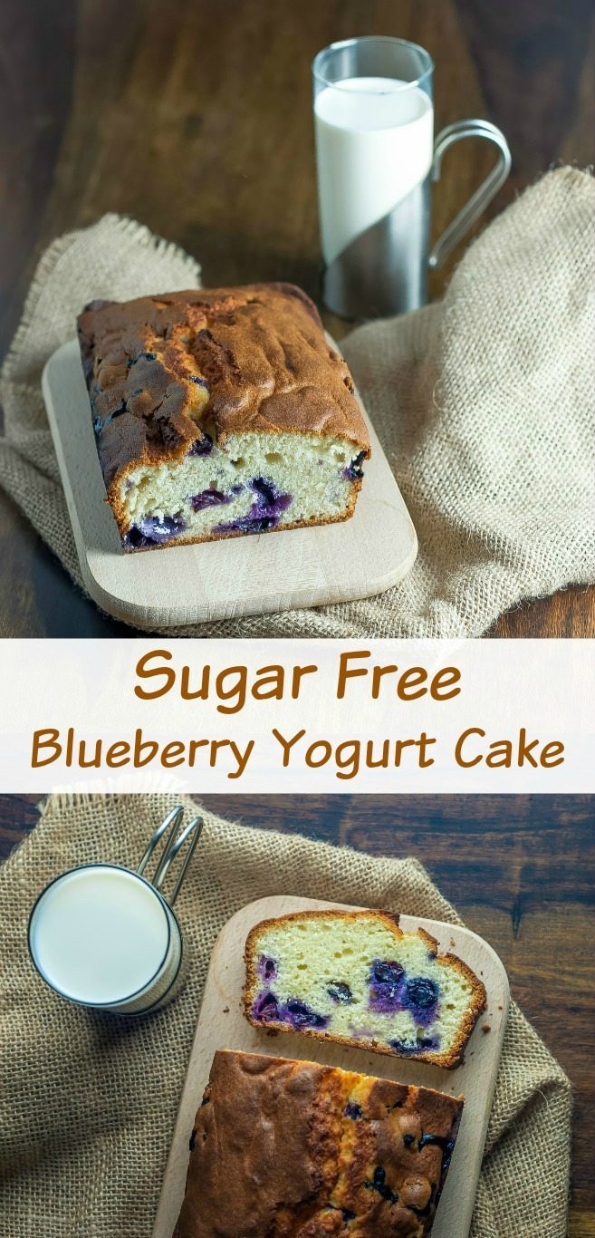 Sugar Free Blueberry Yogurt Cake