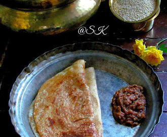 Quinoa Dosai  (Crepes ) /  வரகரிசி தோசை - Step by step - World Diabetic Day