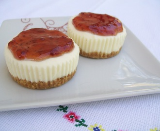 Mini cheesecake de morango