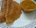 Oats dosa with drumsticks sambhar