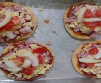 Mini Pizza com 3 Ingredientes