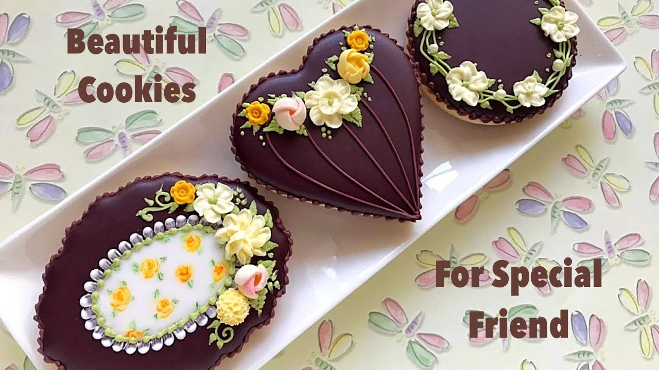 How to decorate floral cookies. Beautiful Cookies for Special Friend🌼