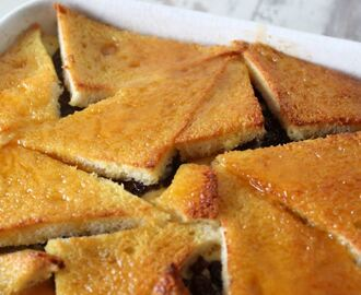 Gluten free bread and butter pudding recipe