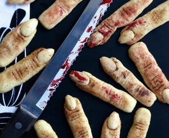 Halloween Wicked Witch Finger Cookies
