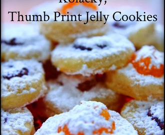 Kolacky, Thumb Print Jelly Cookies Recipe