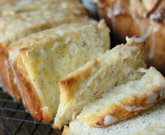Meyer Lemon Poppy Seed Pull Apart Bread