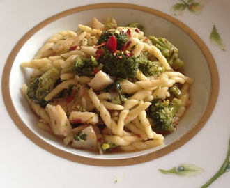 Filei con baccalà e broccoli