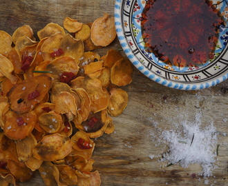 Homemade Sweet Potato Crisps – with Rosemary and Chilli