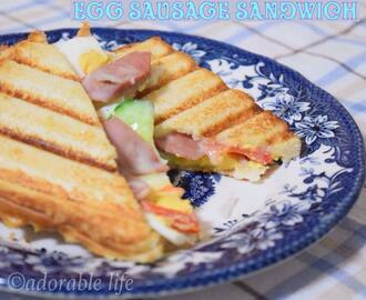 Grilled Egg Sausage Sandwich