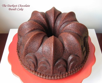 Bundt Cake de chocolate negro