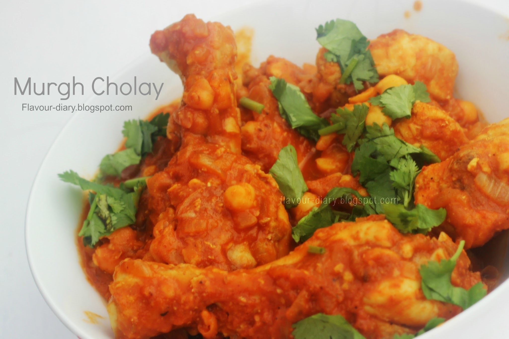 Murgh Cholay --- Chicken Chickpea Curry