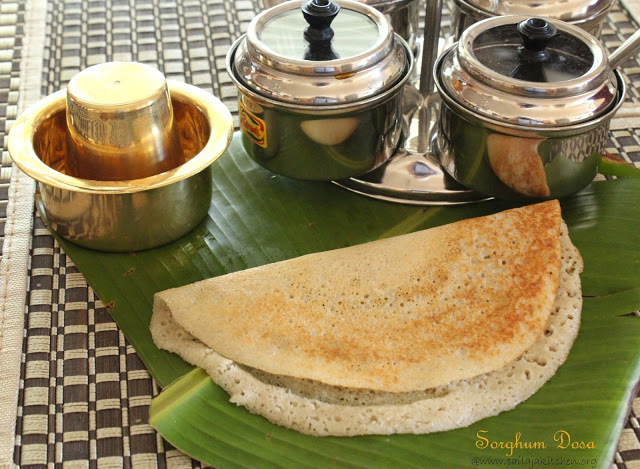 Sorghum Dosa / Jowar Dosa Recipe / Cholam Dosai Recipe - Millet Recipes