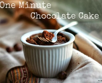 One minute Nutella Cake & Weekly Menu Plan