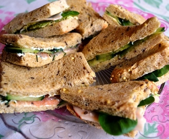 Afternoon Tea-vecka del 1: Sandwiches