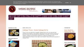 Vysya's Delicious  recipes