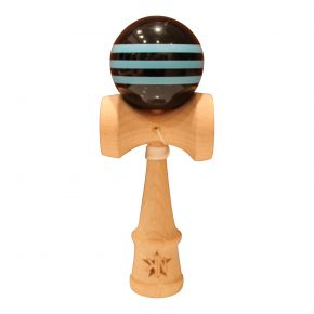 Kendama Nordics - Kendama Airsoft Striped (Svart/Ljusblå)