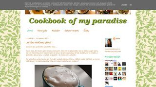 Cookbook Of My Paradise